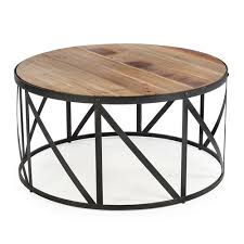 wood drum coffee table cotton to cottage
