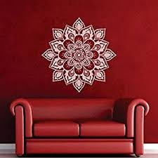 Buy Mairgwall Namaste Flower Mandala Wall Decal Mandala Sticker Decor Indian Lotus Yoga Wallpaper Religious Wall Decor Vinyl Sticker Home Art B X Large White In Cheap Price On Alibaba Com