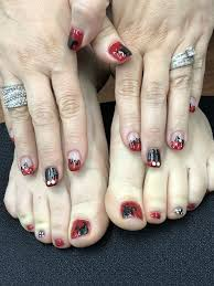 Matching mani pedi Disney Mickey Mouse Gel Nails