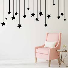 Pendant Stars Decal Living Room Bedroom Vinyl Carving Wall Data Cable Pendant Star Wall Sticker Decor For Home Sofa Setting Wall Wall Stickers Aliexpress