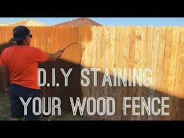 Diy Staining Your Wood Fence Valspar Canyon Brown Exterior Stain R House Youtube