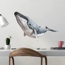 Amazon Com Stickit Graphix Humpback Whale Wall Decal Whale Wall Decal Whale Decals Underwater Decal Ocean Wall Decal 24 Furniture Decor