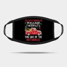 Massage Therapist Red Car Happy Christmas Massage Therapist Mask Teepublic
