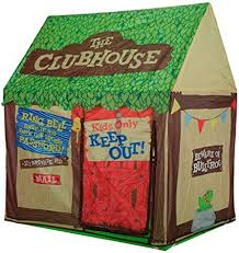 Amazon Com Kids Play Tent Children Playhouse Indoor Outdoor Tent Model Clubhouse Green Portable Toys Games