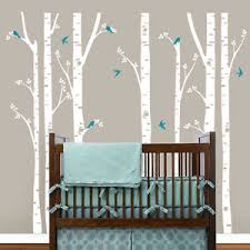 Birch Trees Wall Decals Tree Wall Sticker Removable White Birch Wall Stickers Ebay