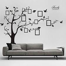 Amazon Com Herra 98 5 X71 Inch Photo Tree Wall Decal Family Photo Picture Frame Tree Wall Sticker Peel And Stick Removable Family Tree Wall Stickers Wall Mural For Living Room Home Decor Arts