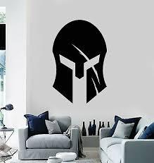 Vinyl Wall Decal Ancient Spartan Warrior Helmet Teen Room Stickers Mural G1266 Ebay