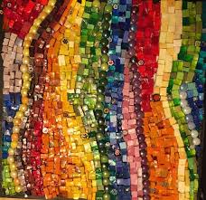 rainbow mosaic with images rainbow