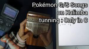Pokémon Gold and Silver - Ecruteak City Kalimba Tabs Letter ...