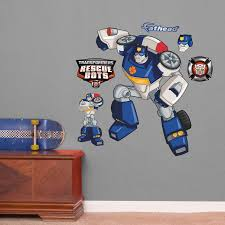Fathead Hasbro Transformers Chase Rescue Bots Peel And Stick Wall Decal Wayfair