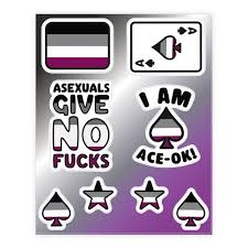 Asexual Pride Sticker And Decal Sheets Lookhuman