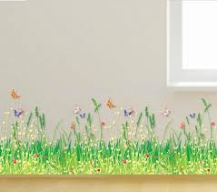 Painting Grass On Walls Google Search Flower Wall Stickers Kids Room Murals Stick Wall Art