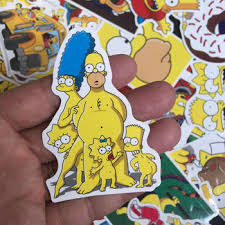 50pcs The Simpsons Cool Waterproof Scrapbooking For Wall Phone Luggage Laptop Bicycle Album Stickers The Simpsons Family