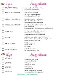 bridal makeup list makeup