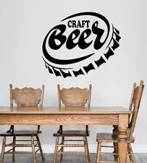 Vinyl Wall Decal Craft Beer Alcohol Home Bar Pub Stickers 3349ig Ebay