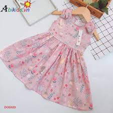 DO202D Váy Thời Trang Bé Gái Đính Nơ Vai - Công Ty TNHH Thương Mại ...