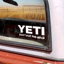 Built For The Wild Window Sticker Yeti Tide And Peak Outfitters