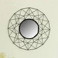 large round black wire metal framed