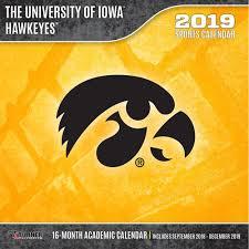 iowa hawkeyes 2019 wall calendar