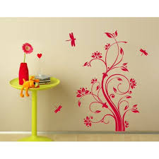 Dragonfly Tendril Wall Decal Floral Wall Decal Sticker Mural Vinyl Art Home Decor 4632 Gray 20in X 31in Walmart Com Walmart Com