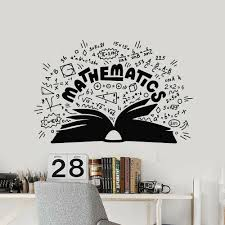 Mathematics Vinyl Wall Decal School Math Symbols Book Wall Stickers Teen Room Home Decoration Accessories For Classroom W141 Wall Stickers Aliexpress
