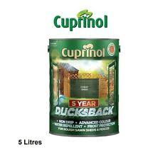 Cuprinol Cupdbfg5l Ducksback Shed And Fence Paint 5l Forest Green For Sale Online Ebay