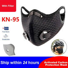 reusable cycling face mask shield with