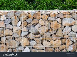 Plant Hedge Rock Fence Cage High Stock Photo Edit Now 412565926