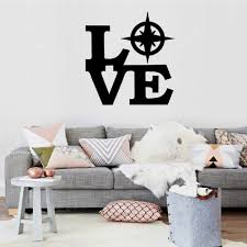 Dsu Love Compass Wall Decor Personalized Creative Pvc Removable Waterproof Sticker Home Decorations Decal Sale Price Reviews Gearbest