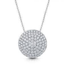 michael spiers diamond disc necklace