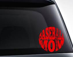 Baseball Mom Decal Baseball Vinyl Decal Sticker Etsy