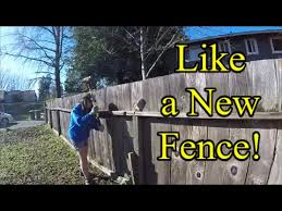 How To Fix Leaning Wooden Fencing Cheap This Will Save Youtube