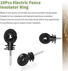 Amazon Com Lenink 10pcs Electric Fence Insulator Screw In Insulator Fence Ring For Wood Post Home Improvement