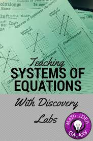 systems of equations teaching math