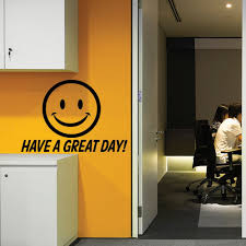 Smile Face Pattern Wall Decal Quotes Have A Great Day Vinyl Wall Stickers Office Door Decals Window Decor Design Art Muralsyy990 Wall Decals Quotes Wall Sticker Officewindow Decoration Aliexpress