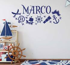 Cool Custom Made Vinyl Wall Sticker Personalized Name Pirate Ships Home Boy Bedroom Kids Wall Decor Art Nursery Decal Wall Stickers Aliexpress