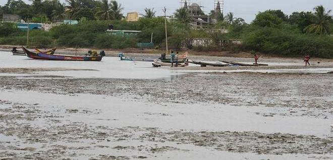 Image result for Pulicat lake bar mouth to be dredged""