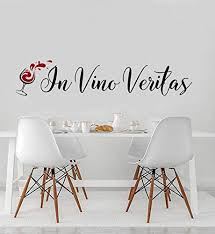 Amazon Com 456yedda Wine Wall Decal In Vino Veritas Wine Decor Winery Wedding Latin Wine Quotes In Wine There Is Truth Winery Bachelorette Party Decor Home Decor Wall Decor Home Decor Home