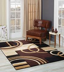 glory rugs area rug modern 8x10 brown