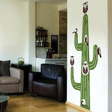 Cactus Animal Tree House Wall Decals Stickers Graphics