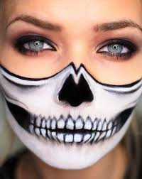bottom half skull makeup makeup