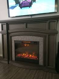 62 grand gray electric fireplace big