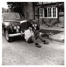 Keith with his Bentley Blue Lena by Gered Mankowitz on artnet