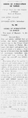 Ada (Turner) Ryno & Richard Ryno - Divorce Filed - Newspapers.com