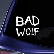 Amazon Com Bargain Max Decals Bad Wolf Graffiti Sticker Decal Notebook Car Laptop 5 White Automotive