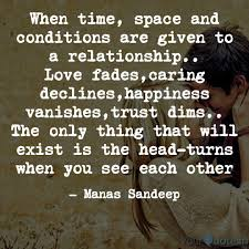 when time space and cond quotes writings by manas sandeep