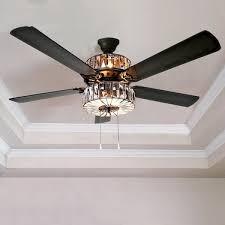 popular crystal ceiling fans modern