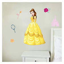 Amazon Com Disney Princess Wall Decals Belle Beauty And The Beast Disney Wall Decals With 3d Augmented Reality Interaction Princess Wall Decals For Girls Bedroom Princess Room Decor Kitchen Dining