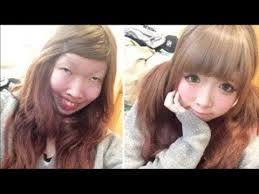 makeup on asian s before and after