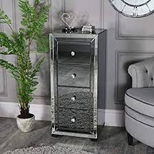 melody maison mirrored tallboy chest of